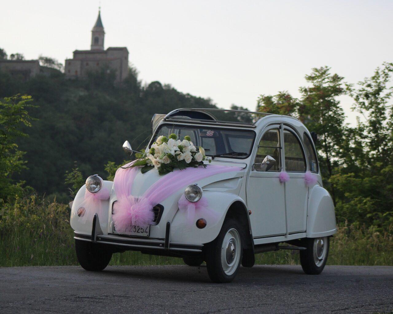 Citroen 2cv Special bianco - Volkswagen 1303 - vettura matrimonio - auto nuziale