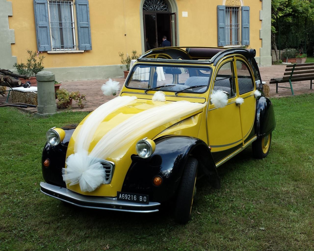Citroen 2cv Charleston gialla - vettura matrimonio - auto nuziale