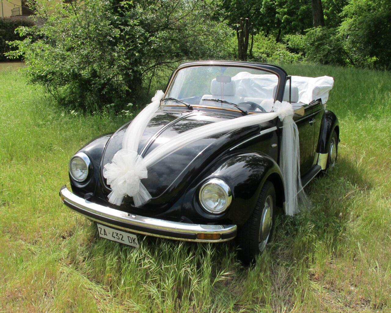 Volkswagen 1303 nero - vettura matrimonio - maggiolone - maggiolino - auto nuziale