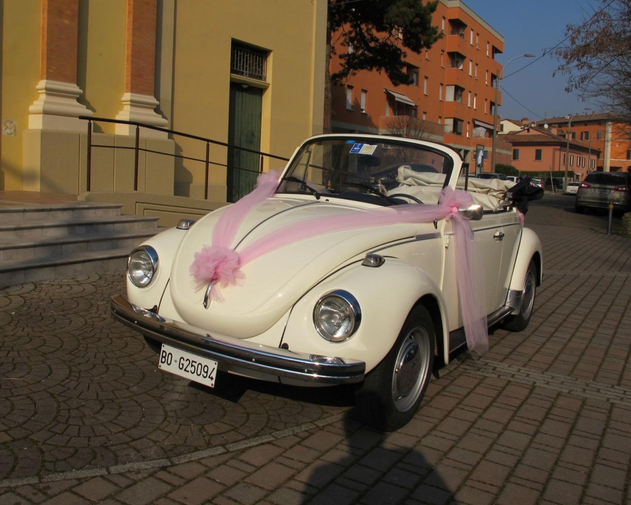 Volkswagen 1303 bianco - vettura matrimonio - maggiolone - maggiolino - auto nuziale